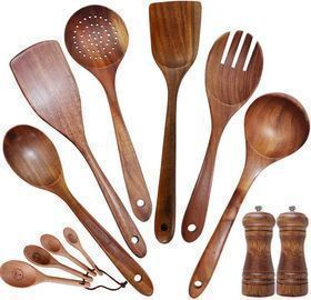 Wooden Cooking Utensil Sets Non-stick 12pcs