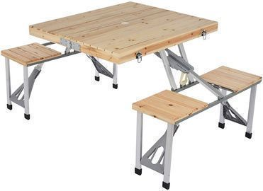 Portable Foldable Camping Picnic Table with Seats