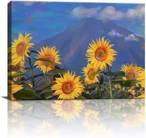 Sunflower Wall Art Canvas Print