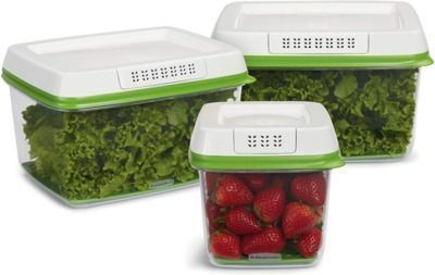 Rubbermaid - FreshWorks Produce Saver Food Storage Containers