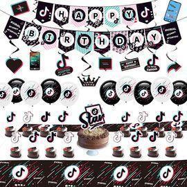 76pc. TicTok Party Decoration Kit