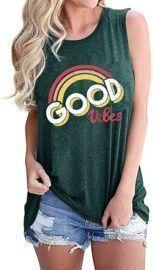 Good Vibes Rainbow Tank Top