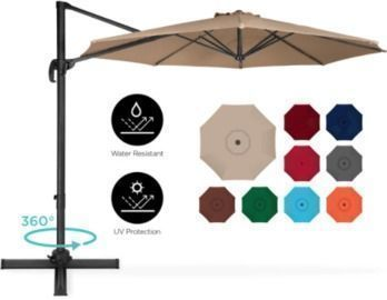360-Degree Rotating Cantilever Offset Patio Umbrella