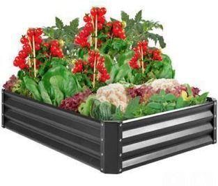 4'x3'x1' Outdoor Metal Raised Garden Bed