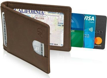 Men Bifold Mens Wallet w/ Removable Money Clip + RFID Blocking