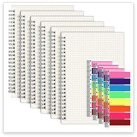 Dot Grid Notebook/Journal - 6pk