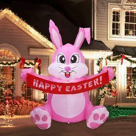 5' LED Light Up High Easter Inflatable Blow up Bunny