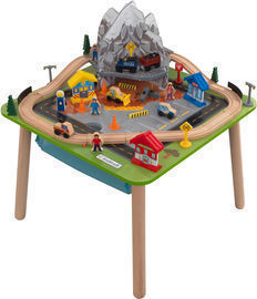 KidKraft Rocky Mountain Train Set & Table with 50 Accessories Included