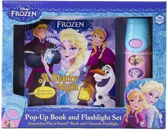 Disney Frozen Pop-up Book and Flashlight Toy Set