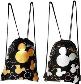 2 Pack of Disney Mickey Mouse Drawstring Bags
