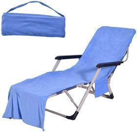 Lounge Chair Towel Covers with Side Pockets