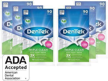 Amazon - 6 Pack of DenTek Triple Clean Floss Picks (90 Count) $8.75