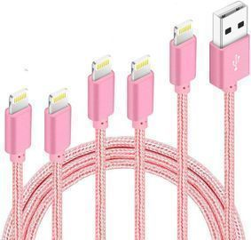 5Pack Nylon Braided Charging Cord Charger