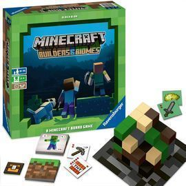 Ravensburger Minecraft: Builders & Biomes Strategy Board Game