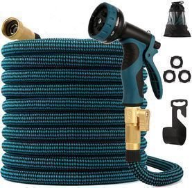 100' Expandable Garden Hose + Spray Nozzle
