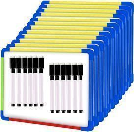 12 Pack Small Magnetic Double-Sided Whiteboards