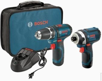 Bosch 12V Max Li-Ion Drill/Driver & Impact Driver Combo Kit w/ 2x Batteries + Charger