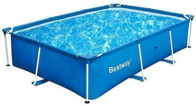 Bestway - 8.5' x 5.6' x 2' Rectangular Ground Swimming Pool
