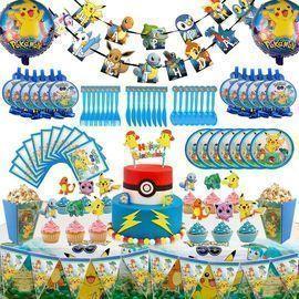 146pc. Pokemon Theme Party Supplies Set