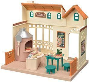 Calico Critters Village Pizzeria Dollhouse Playset