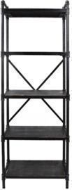 Noble House Driscoe 71 Industrial 5-Shelf Etagere Bookcase