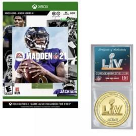 Madden NFL 21 Super Bowl Collectors Coin Xbox One Bundle