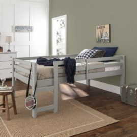Manor Park Traditional Solid Wood Twin Low Loft Bed