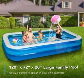 Inflatable Swimming Pool (120 X 72 X 20)