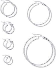 6 Pairs Set Hoop Earrings