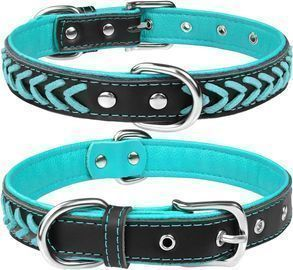 TagMe Leather Dog Collar (2 Pack)