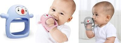 Never Drop Wrist Wearable Silicone Soothing Teether Toy for 0-6Month Sucking Babies