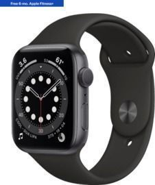 Apple Watch Series 6 (GPS) 44mm Space Gray with Black Sport Band