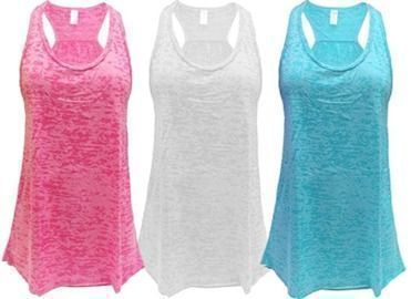 Amazon - Pack of 3 Flowy Racerback Tank Tops $25.49