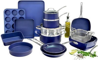 20pc. Granitestone Diamond All-In-One Cookware/Bakeware Set