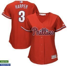 Bryce Harper Philadelphia Phillies Majestic Women's Cool Base Replica Player Jersey