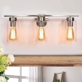 3-light bathroom vanity light wall light sconce
