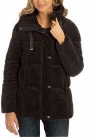 Isaac Mizrahi Ladies' Velvet Puffer Jacket