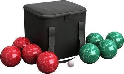 Hey! Play! Bocce Ball Set, Red/Green