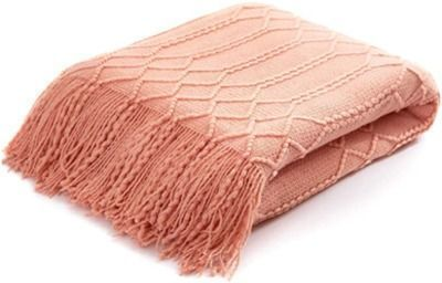 Acrylic Knitted Throw Blanket