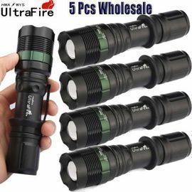 UltraFire Tactical T6 Flashlight 5-Pack