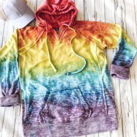 Tie Dye Burnout Hooded Pullover