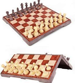 Magnetic wooden tournament Chess Set