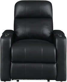 RowOne Prestige: Straight 2-Arm Leather Power Recline Home Theater Seating