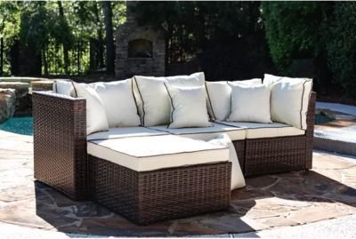 Burruss 83.5 Wide Outdoor Reversible Patio Sectional
