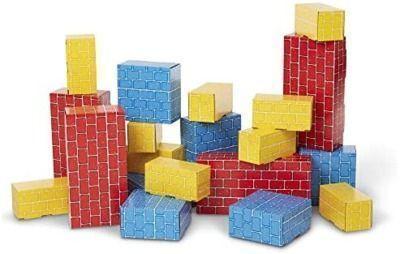 Melissa & Doug Deluxe Jumbo Cardboard Blocks, 24pc