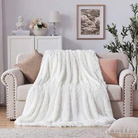 70x78 Soft Shaggy Faux Fur Blanket