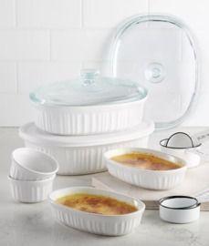 Corningware French White 10pc Bakeware Set