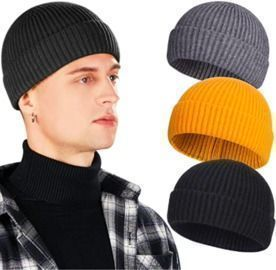 3pcs Wool Beanies