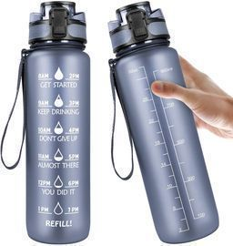 32oz Motivational Fitness Sports Water Bottle with Time Marker