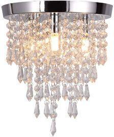 3 Lights Mini Crystal Flushmount Chandelier Fixture